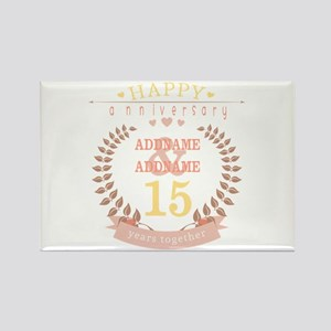 Personalized Name and Year Annive Rectangle Magnet