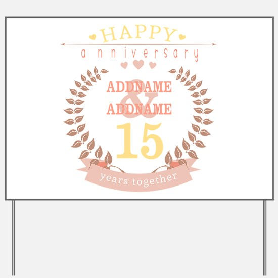 Personalized Name and Year Anniversary Yard Sign