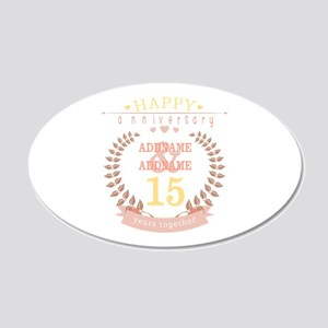 Personalized Name and Year A 20x12 Oval Wall Decal