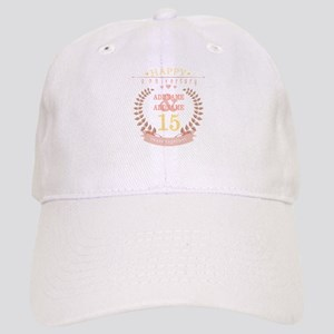 Personalized Name and Year Anniversary Cap