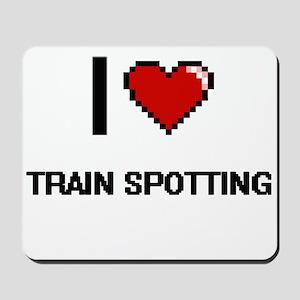 I Love Train Spotting Digital Retro Desi Mousepad