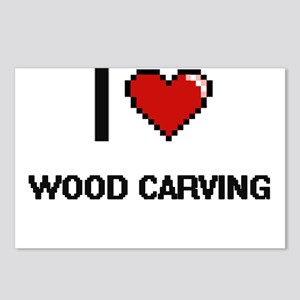 I Love Wood Carving Digit Postcards (Package of 8)