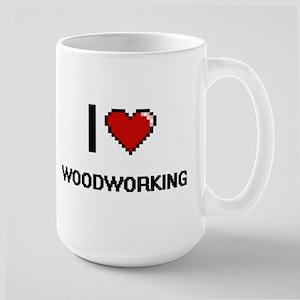 I Love Woodworking Digital Retro Design Mugs