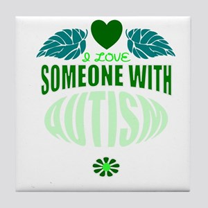 autistic love (shirt) Tile Coaster