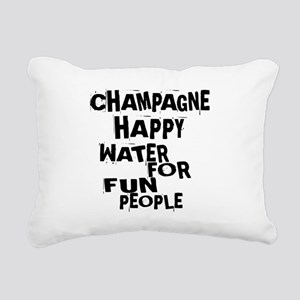 Champagne Happy Water Fo Rectangular Canvas Pillow