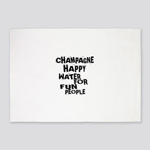 Champagne Happy Water For Fun Peopl 5'x7'Area Rug
