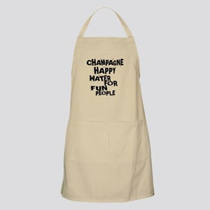 Champagne Happy Water For Fun People Light Apron