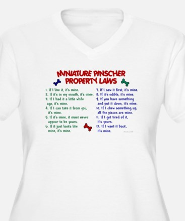 Miniature Pinscher Property Laws T-Shirt