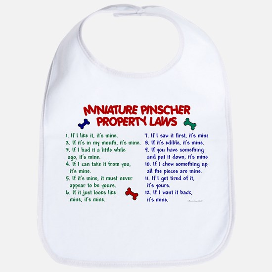 Miniature Pinscher Property Laws Bib