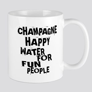Champagne Happy Water For Fun Pe 11 oz Ceramic Mug
