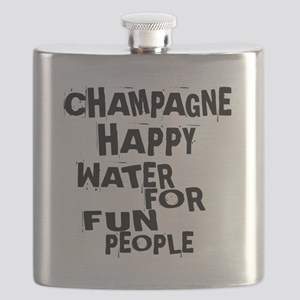Champagne Happy Water For Fun People Flask