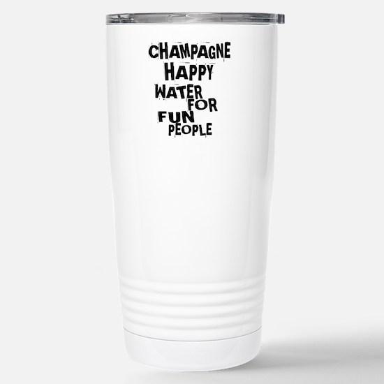 Champagne Happy W Travel Mug