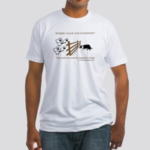 Border Collie Commandment Fitted T-Shirt
