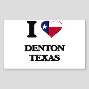 I love Denton Texas Sticker