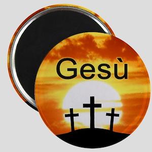 Italian Jesus Magnet