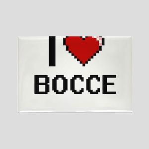 I Love Bocce Digital Retro Design Magnets