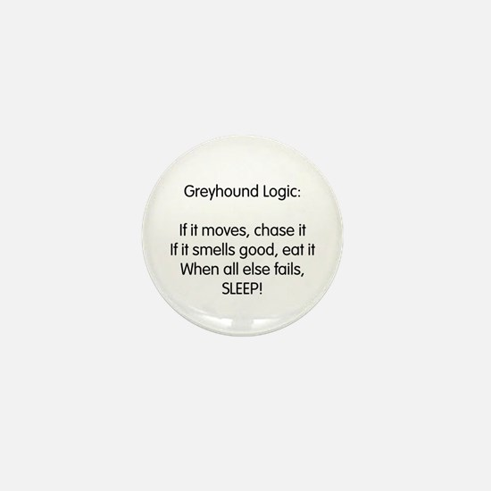 Greyhound Logic Mini Button