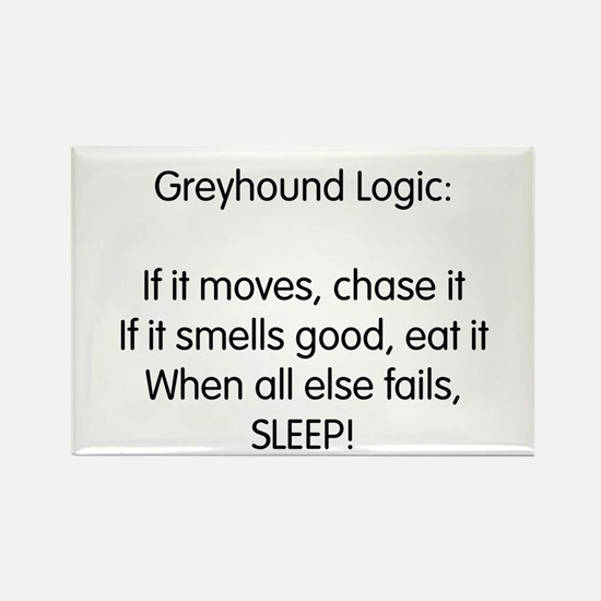 Greyhound Logic Rectangle Magnet