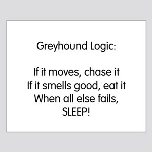 Greyhound Logic Small Poster
