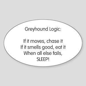 Greyhound Logic Oval Sticker