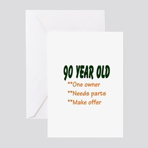 90 YEAR OLD: Greeting Cards (Pk of 10)