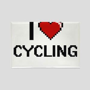 I Love Cycling Digital Retro Design Magnets
