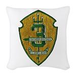 USS JOHN S. MCCAIN Woven Throw Pillow