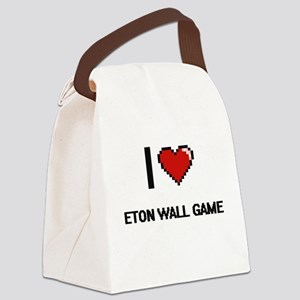 I Love Eton Wall Game Digital Ret Canvas Lunch Bag