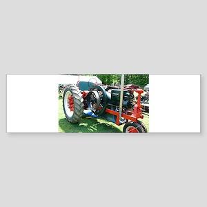 antique red tractor Bumper Sticker