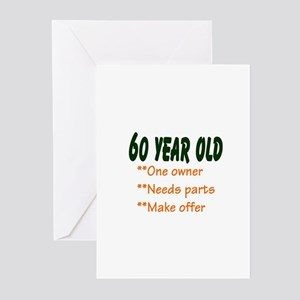 60 YEAR OLD Greeting Cards (Pk of 10)