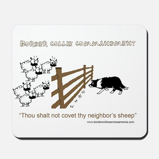 Border Collie Commandment Mousepad