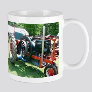 antique red tractor Mugs