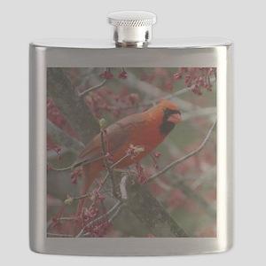 Flower Cardinal Flask