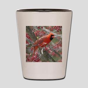 Flower Cardinal Shot Glass