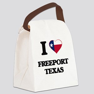 I love Freeport Texas Canvas Lunch Bag