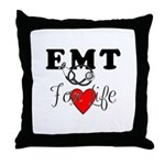 EMT For Life Throw Pillow