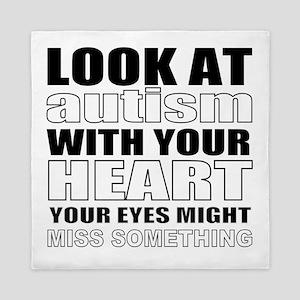 cute autism Queen Duvet