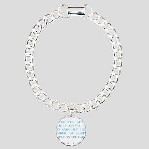 God and autism Charm Bracelet, One Charm