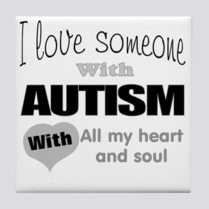 Love and autism Tile Coaster