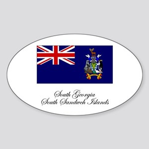 South Georgia and South Sandw Oval Sticker