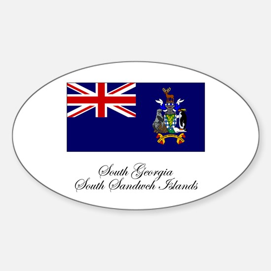 South Georgia and South Sandw Oval Decal