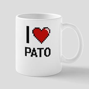I Love Pato Digital Retro Design Mugs