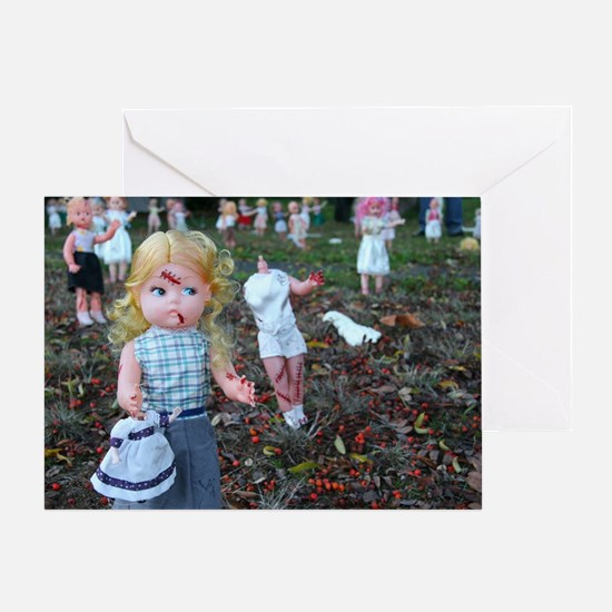 doll zombies Greeting Card