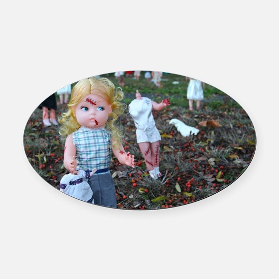 doll zombies Oval Car Magnet