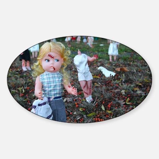 doll zombies Sticker (Oval)