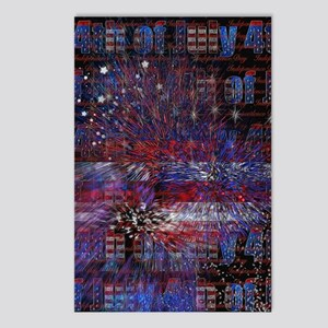 4th of July Fireworks Abs Postcards (Package of 8)