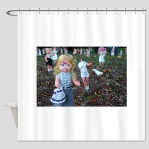 doll zombies Shower Curtain