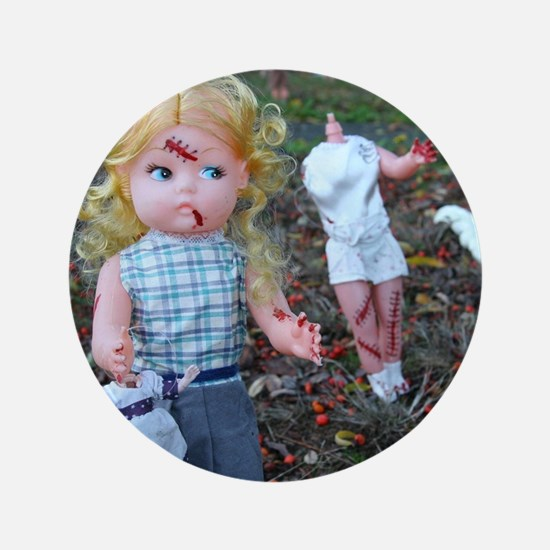 """doll zombies 3.5"""" Button (100 pack)"""