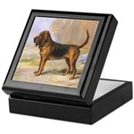 Vintage Bloodhound Keepsake Box