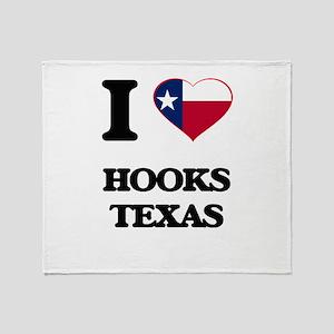 I love Hooks Texas Throw Blanket